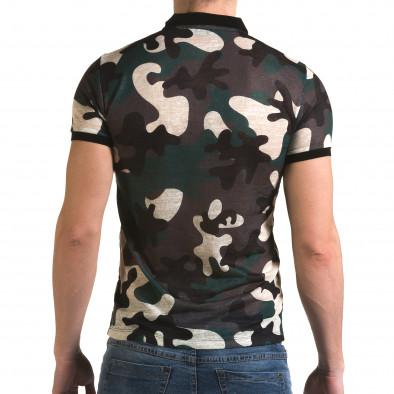 Tricou cu guler bărbați Lagos camuflaj il120216-20 3