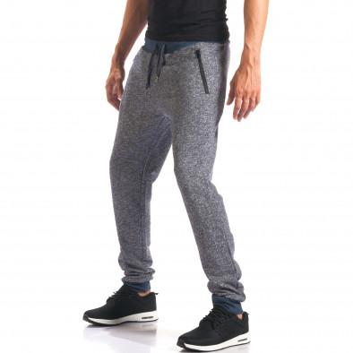 Pantaloni sport bărbați New Mentality albastru it160816-25 4