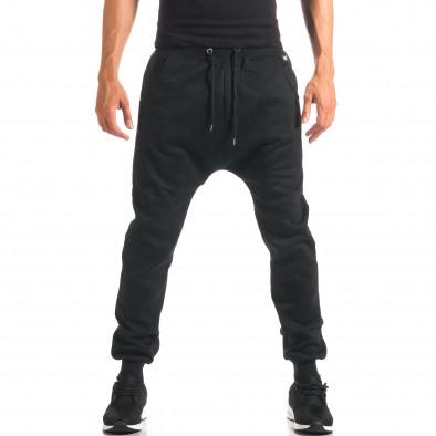 Pantaloni baggy bărbați Marshall negri it160816-20 2