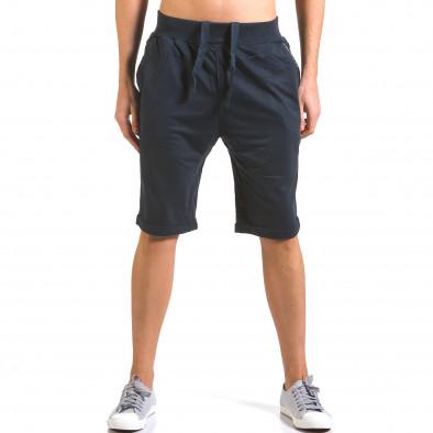 Pantaloni scurți bărbați Dress&GO albaștri it160316-20 2