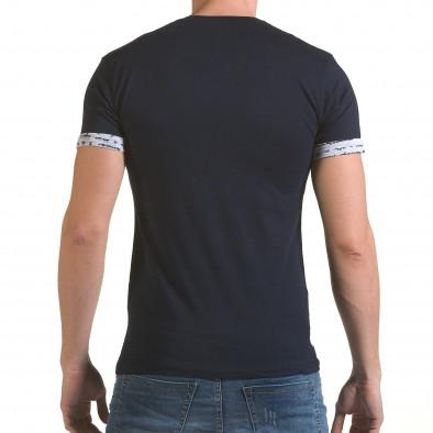 Tricou bărbați SAW albastru il170216-49 3