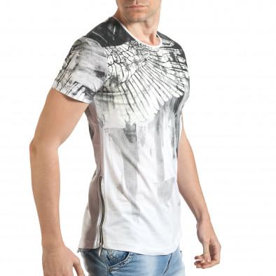 Tricou bărbați Eksi alb tsf140416-4 4