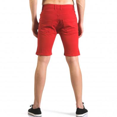 Blugi scurți bărbați QBR roșii it110316-60 3
