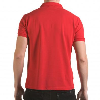 Tricou cu guler bărbați Franklin roșu il170216-29 3