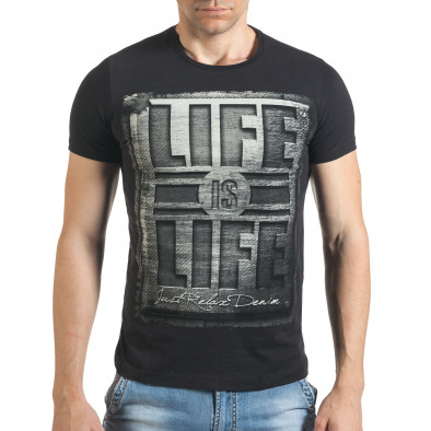 Tricou bărbați Just Relax negru il140416-42 2