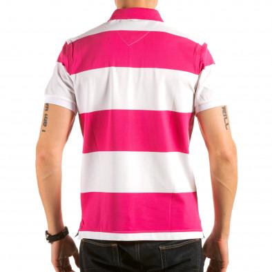 Tricou cu guler bărbați Ar-Ma roz il180215-114 3