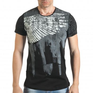 Tricou bărbați Eksi negru tsf140416-5 2
