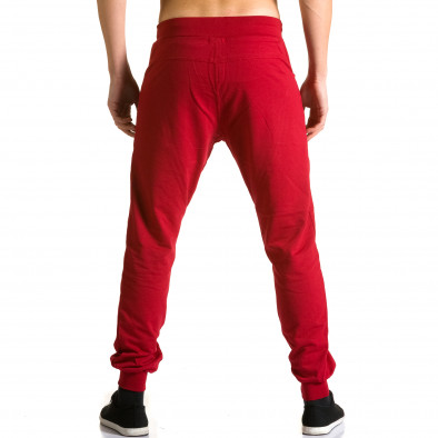 Pantaloni baggy bărbați DelPiero roșii ca190116-24 3