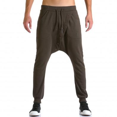 Pantaloni baggy bărbați Devil Slayer maro ca260815-25 2