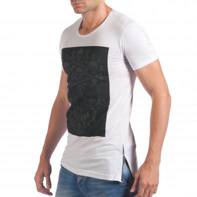 Tricou bărbați Eksi alb il060616-78 4