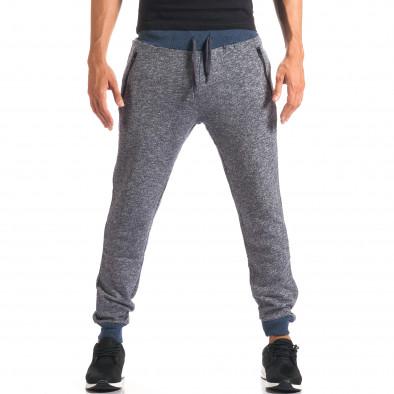 Pantaloni sport bărbați New Mentality albastru it160816-25 2