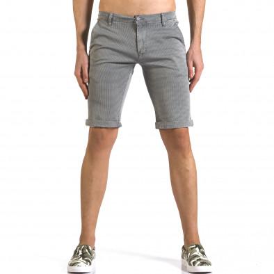 Pantaloni scurți bărbați Bruno Leoni gri it110316-50 2