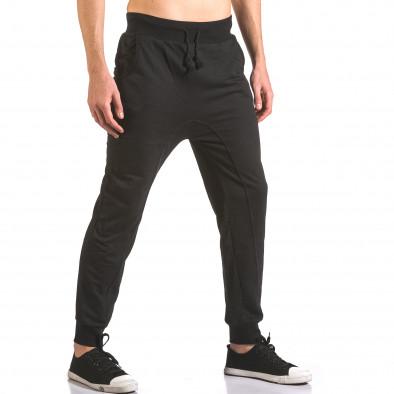 Pantaloni baggy bărbați B-Men negri ca050416-51 4
