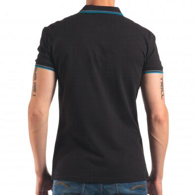 Tricou cu guler bărbați Bruno Leoni negru it150616-34 3