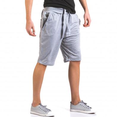 Pantaloni scurți bărbați Dress&GO gri it160316-21 4