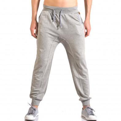 Pantaloni baggy bărbați B-Men gri ca050416-52 2
