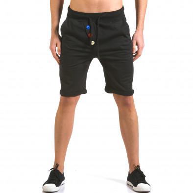 Pantaloni scurți bărbați Vestiti Delle Nuvole negri it160316-27 2