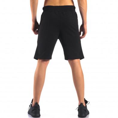 Pantaloni scurți bărbați Social Network negri it160616-11 3