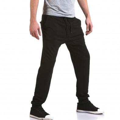 Pantaloni baggy bărbați Dress&GO negri it090216-39 4
