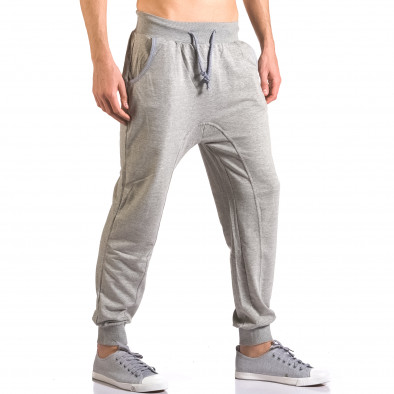 Pantaloni baggy bărbați B-Men gri ca050416-52 4