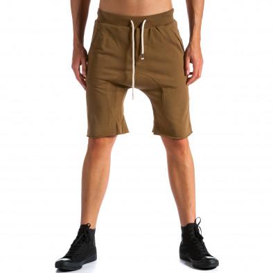 Pantaloni scurți bărbați Bread & Buttons maro tsf120514-17 2
