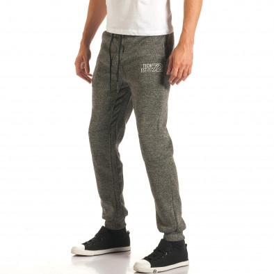 Pantaloni sport bărbați Bread & Buttons gri it191016-8 4