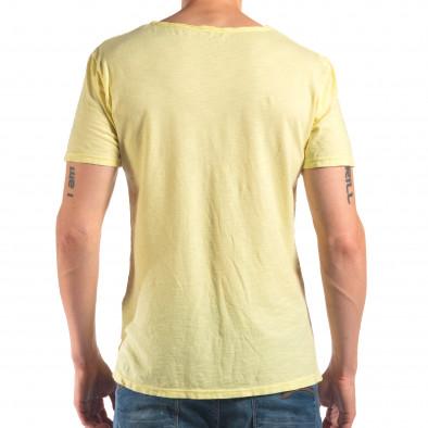 Tricou bărbați FM galben it150616-29 3