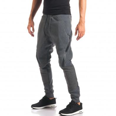 Pantaloni baggy bărbați Top Star gri it160816-2 4