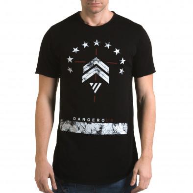 Tricou bărbați Man negru it090216-71 2
