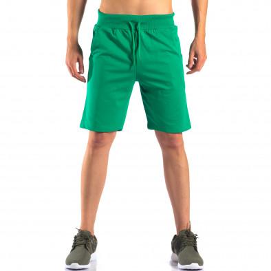 Pantaloni scurți bărbați Social Network verzi it160616-5 2