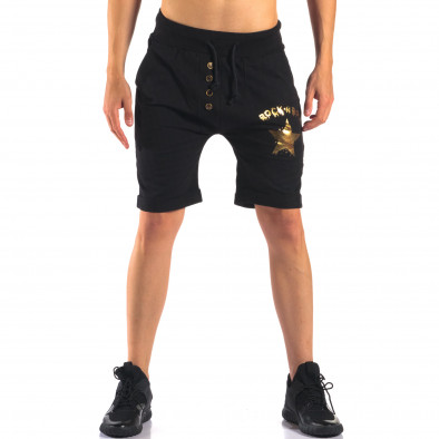 Pantaloni scurți bărbați Black Fox negri it160616-12 2