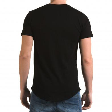 Tricou bărbați Man negru it090216-66 3