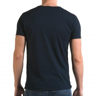 Tricou bărbați FM albastru it090216-75 3