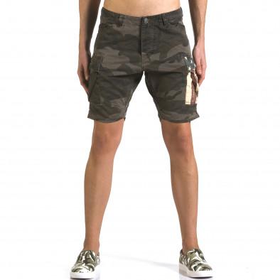 Pantaloni scurți bărbați Bread & Buttons camuflaj it110316-55 2