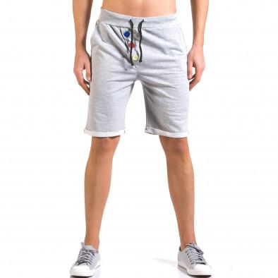 Pantaloni scurți bărbați Vestiti Delle Nuvole gri it160316-26 2
