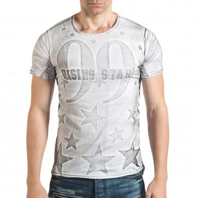 Tricou bărbați Millionaire alb il140416-15 2