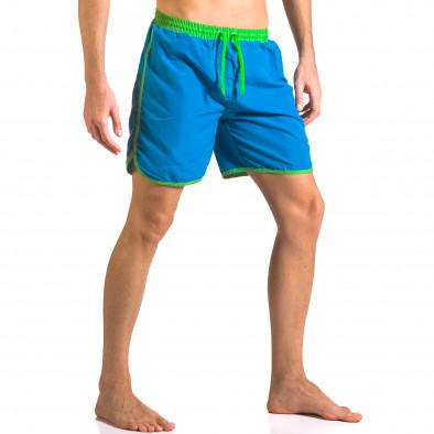 Costume de baie bărbați Yaliishi albastru ca050416-28 4