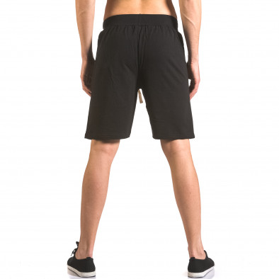 Pantaloni scurți bărbați Me & You negri ca050416-41 3