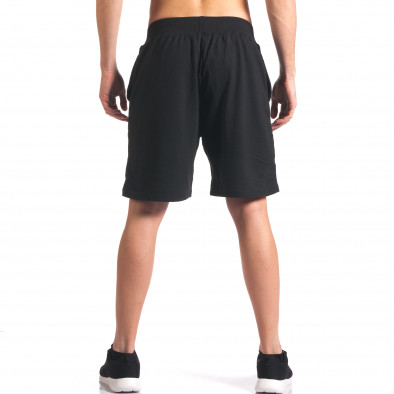Pantaloni scurți bărbați Y Chromosome negri it260416-20 3