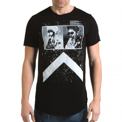 Tricou bărbați Man negru it090216-73 2
