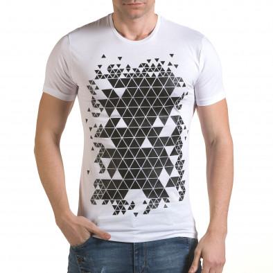 Tricou bărbați SAW alb il170216-57 2