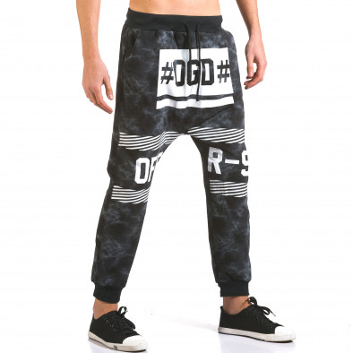Pantaloni baggy bărbați Vestiti Delle Nuvole negri it160316-8 4