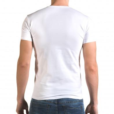 Tricou bărbați Lagos alb il120216-52 3