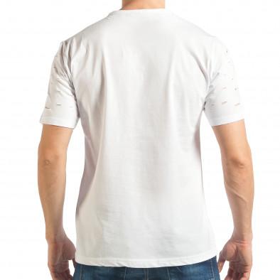 Tricou bărbați Black Island alb tsf020218-30 3