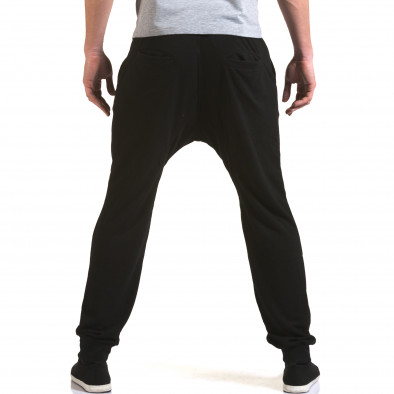 Pantaloni baggy bărbați Dress&GO negri it090216-39 3