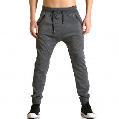 Pantaloni baggy bărbați Furia Rossa gri ca190116-18 2