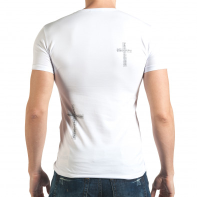 Tricou bărbați Berto Lucci alb il140416-10 3