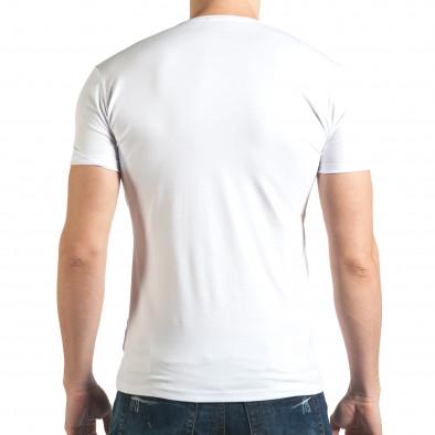 Tricou bărbați Lagos alb il140416-67 3