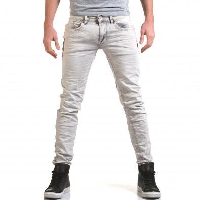 Pantaloni bărbați Leeyo Jeans gri it090216-22 2