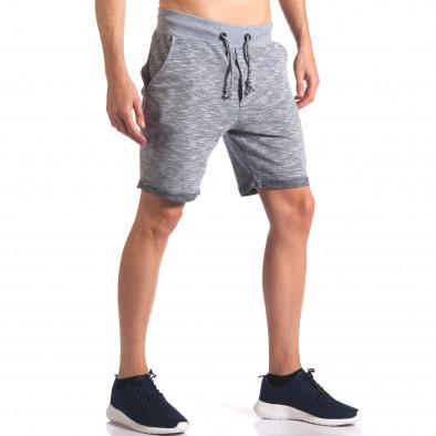 Pantaloni scurți bărbați New Brams albaștri it250416-10 4